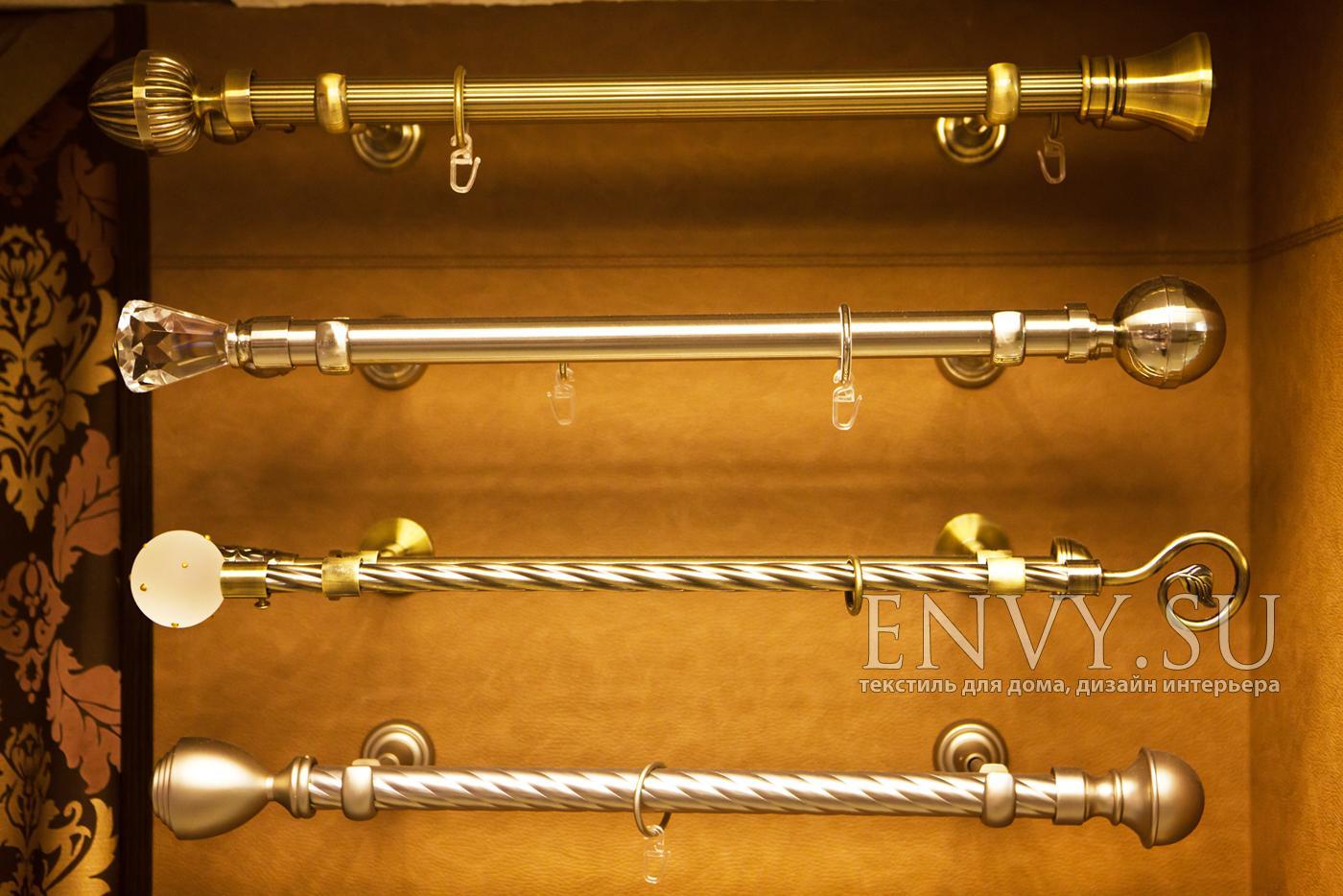 Карнизы для штор металлические в интерьере